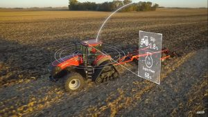 Trator Case IH com AFS Connect