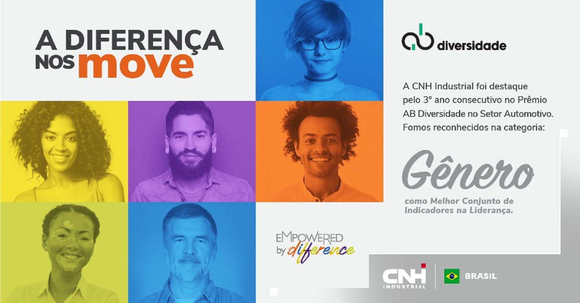 CNH Industrial é premiada por ações de Diversidade e Inclusão