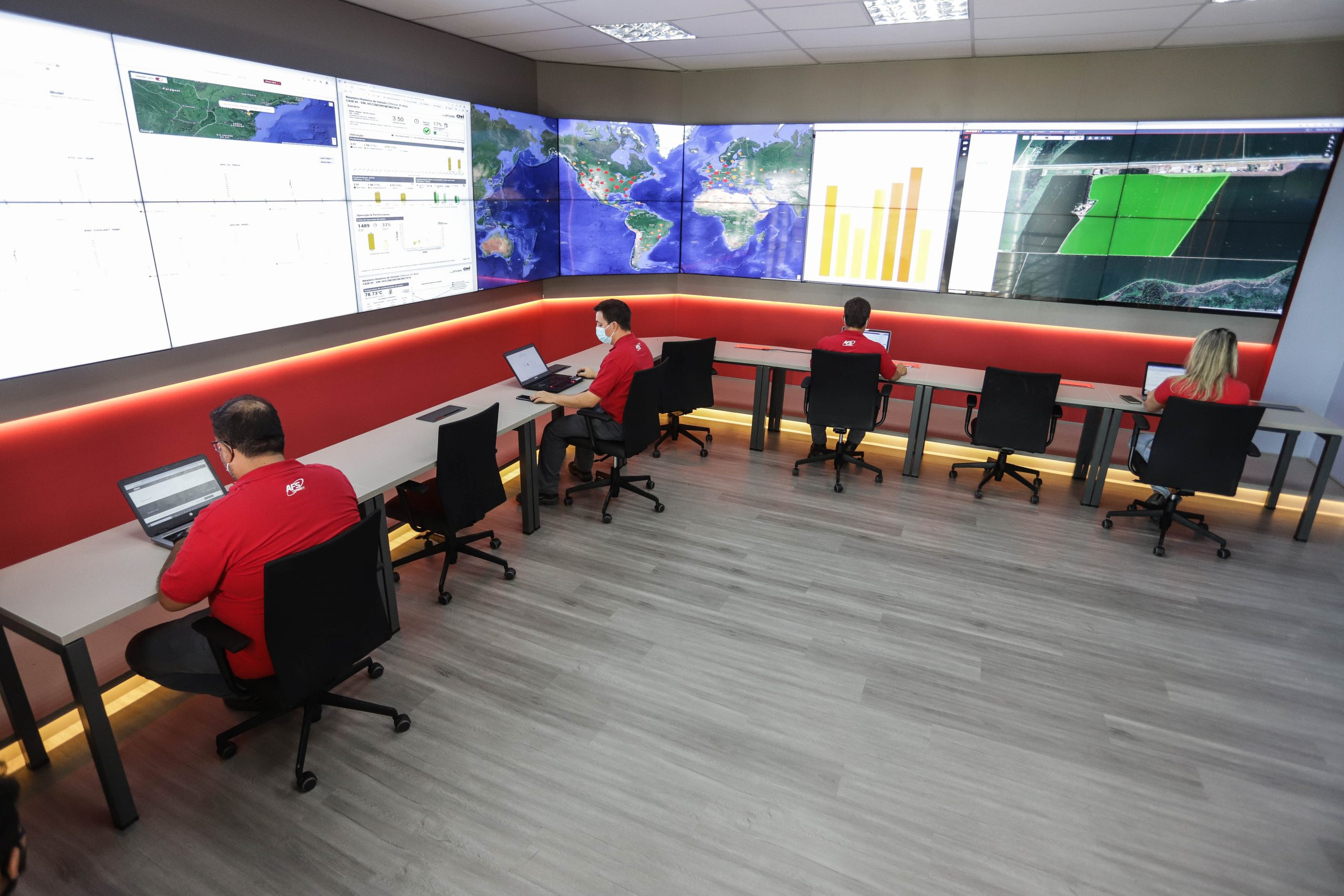 Central de monitoramento da Case IH